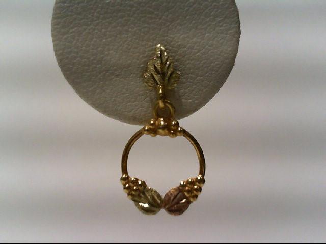 Gold Earrings 10K Tri-color Gold 1g