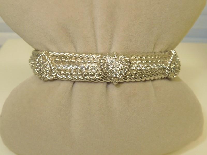 White Stone Silver-Stone Bracelet 925 Silver 44g
