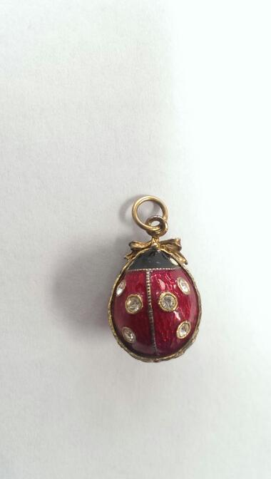 FABERGE INSPIRED LADY BUG EGG PERFECT FOR EASTER