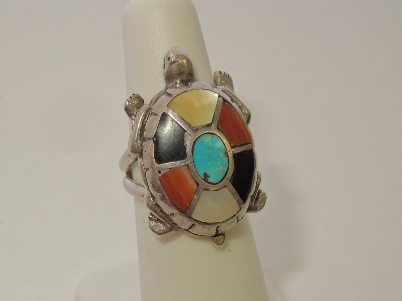 Black Stone Gent's Silver & Stone Ring 925 Silver 9.8g Size:5