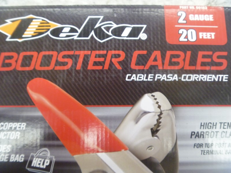 DEKA 2 GAUGE 20 FEET BOOSTER CABLES