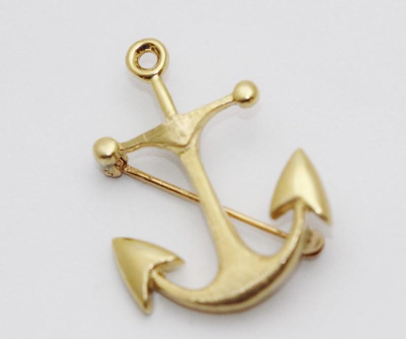 Gold Anchor Pen 14KYG 3.5g
