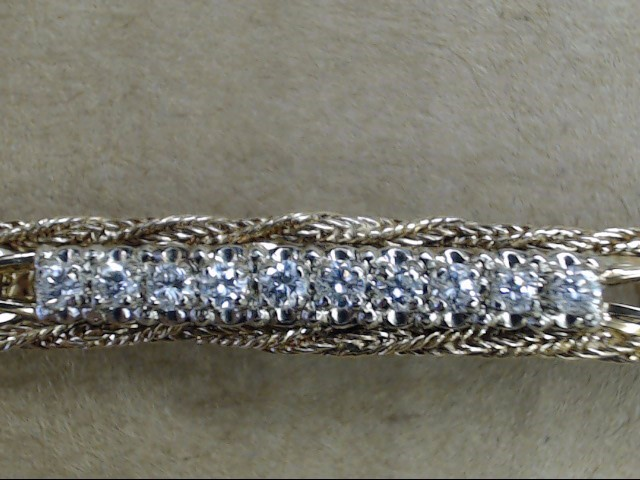 VINTAGE NATURAL DIAMOND TENNIS FRANCO TWIST BRACELET SOLID 14K GOLD
