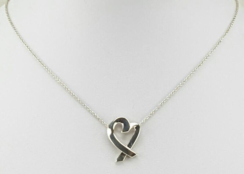 Tiffany & Co. Paloma Picasso Loving Heart Sterling Silver Necklace 18""