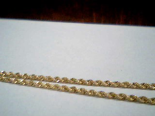 """18"""" Gold Rope Chain 14K Yellow Gold 2.7g"""