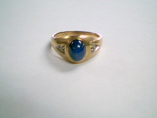 Blue Stone Lady's Stone Ring 10K Yellow Gold 4.4g