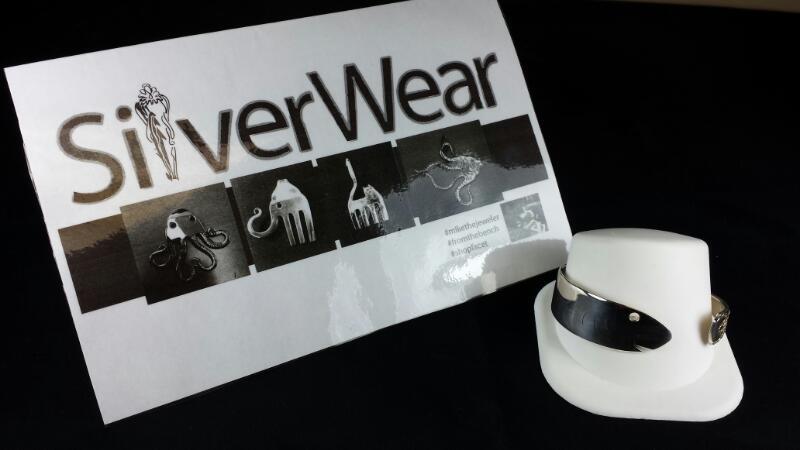 Designer Michael Kelch Fish Knife Silver Bracelet 925 Silver
