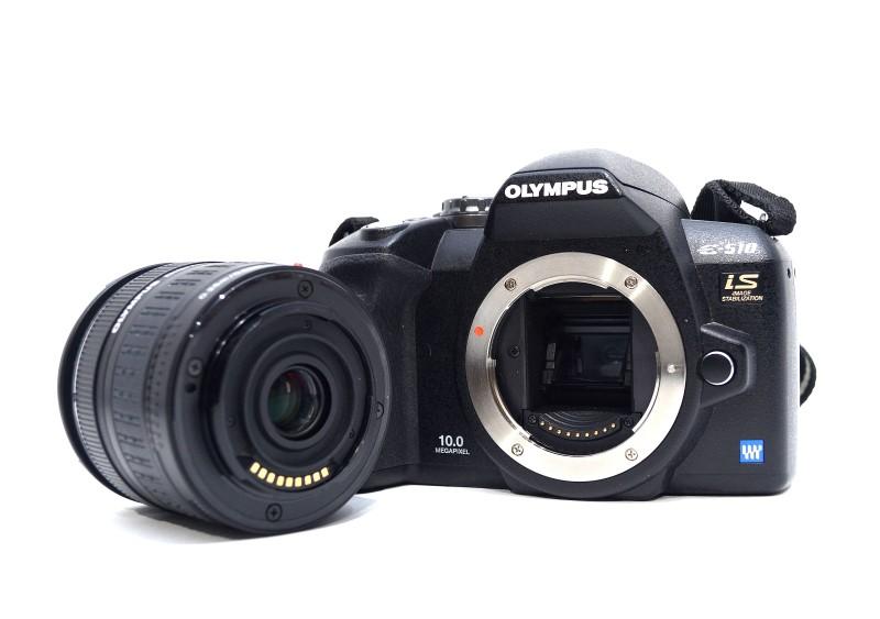 Olympus E-510 DSLR Camera 10MP 2x Lens Bundle 14-42mm 40-150mm >