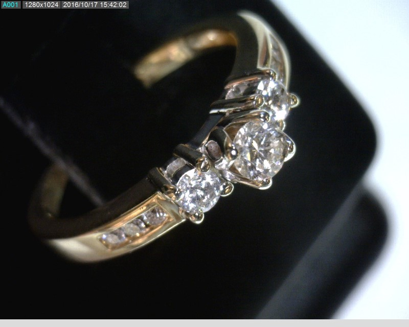 Lady's Diamond Engagement Ring 9 Diamonds .29 Carat T.W. 14K Yellow Gold 2dwt