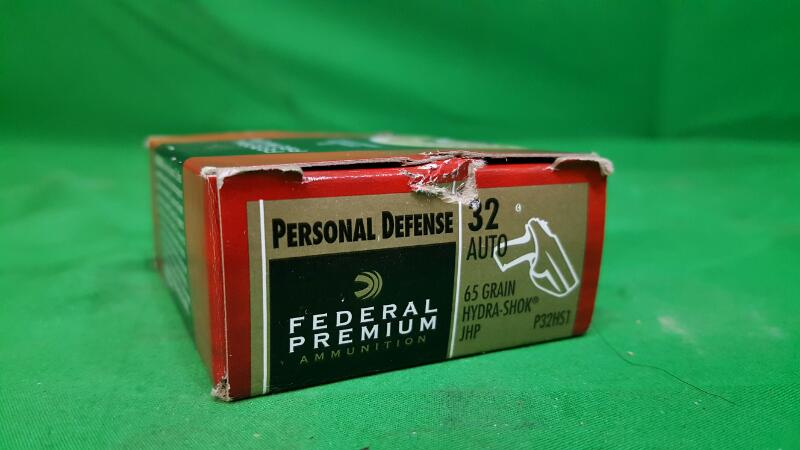 FEDERAL PREMIUM LAW ENFORCEMENT Ammunition PERSONAL DEFENCE 32AUTO FEDERAL PERSO
