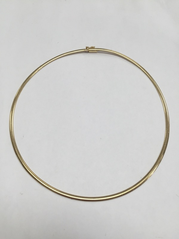 "16"" Gold Omega Chain 14K Yellow Gold"