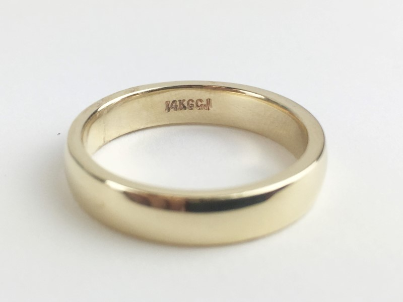 Gold Wedding Band 14K Yellow Gold 6.74g Size:9.5