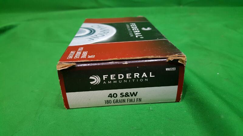 FEDERAL AMMUNITION Ammunition .40 S&W 180GR FMJ (WM5223)