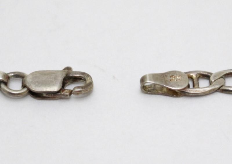 "8"" Sterling Silver Figaro Link Chain Bracelet"