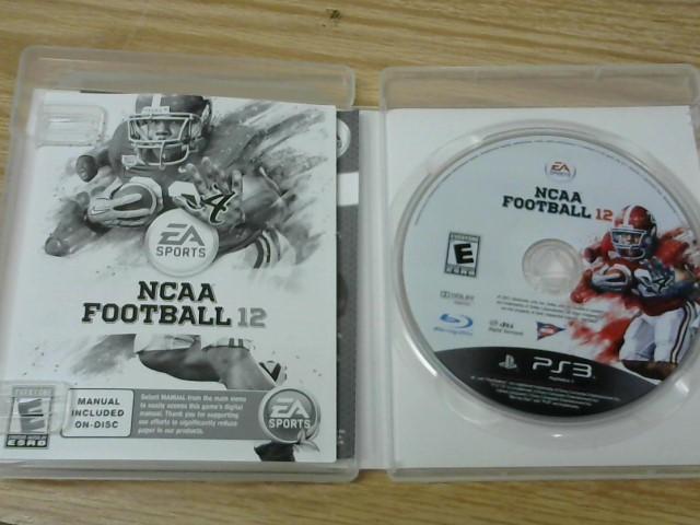 SONY Sony PlayStation 3 Game NCAA FOOTBALL 12