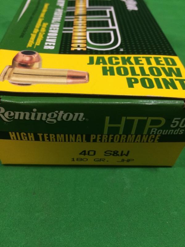REMINGTON FIREARMS & AMMUNITION Ammunition HTP 40 S&W