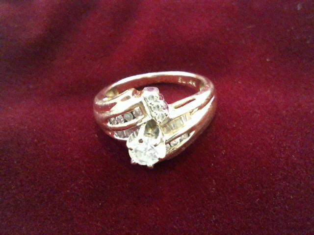 Lady's Diamond Wedding Set 11 Diamonds .45 Carat T.W. 14K Yellow Gold 4.9g