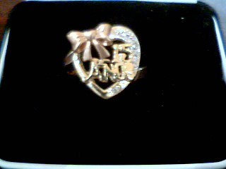 Lady's Gold Ring 14K Tri-color Gold 4.1g