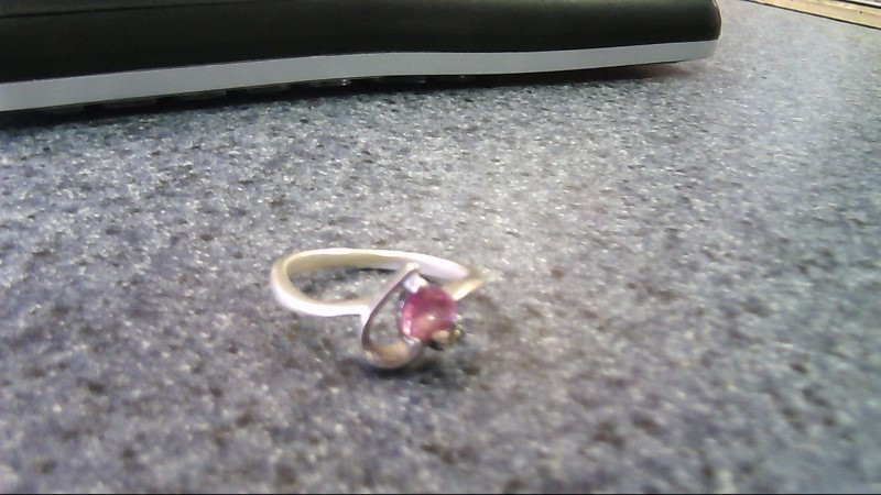 Lady's Silver-Diamond Ring .25 CT. 925 Silver 2.3g