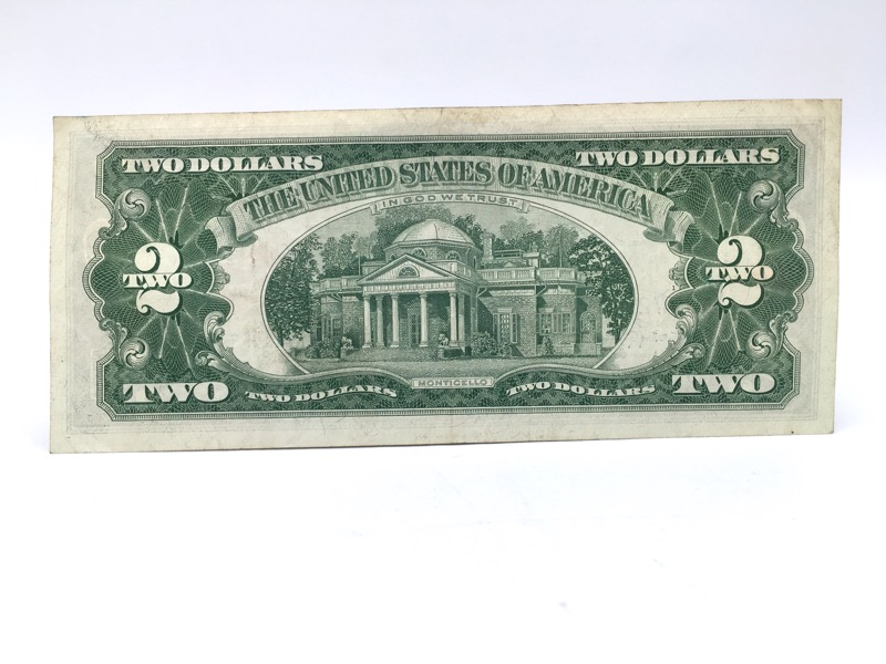 1963 A $2 Two Dollars Red Seal Note - Double A Serial No. -