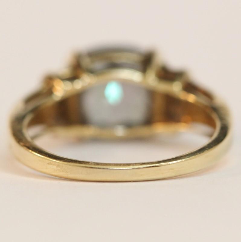 10K Yellow Gold Mystic Topaz Ring Size 7