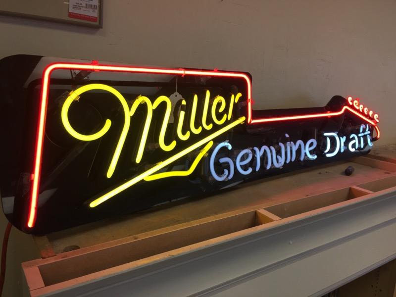 MILLER GENUINE DRAFT Sign SIGN