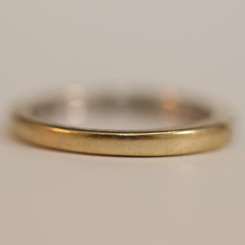 18K White Gold Bead Set Round Brilliant Diamond Wedding Band Size 6