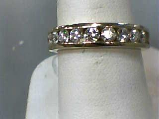 Lady's Diamond Wedding Band 9 Diamonds .72 Carat T.W. 14K Yellow Gold 3.9dwt