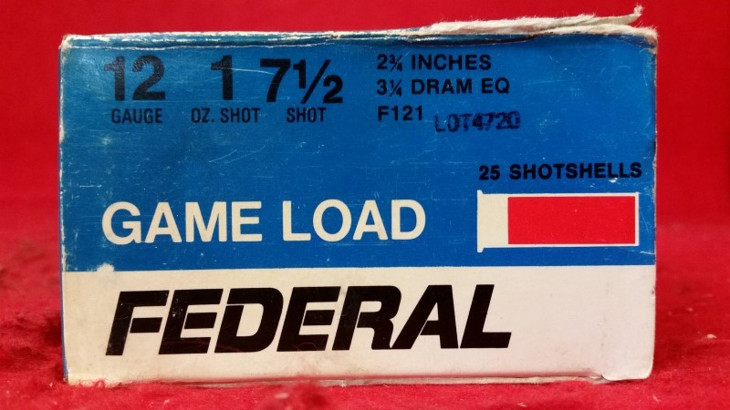 "Federal 12ga Ammo / 1oz / 7-1/2"" Shot / 2-/4"" Shell - 25 Rounds"