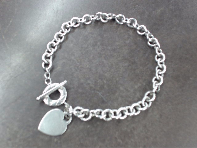 TIFFANY & CO STERLING SILVER HEART TAG TOGGLE NECKLACE