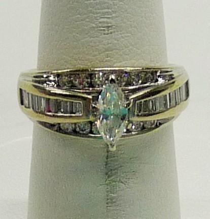 Lady's Diamond Engagement Ring .50 CT. 14K White Gold 3.56dwt