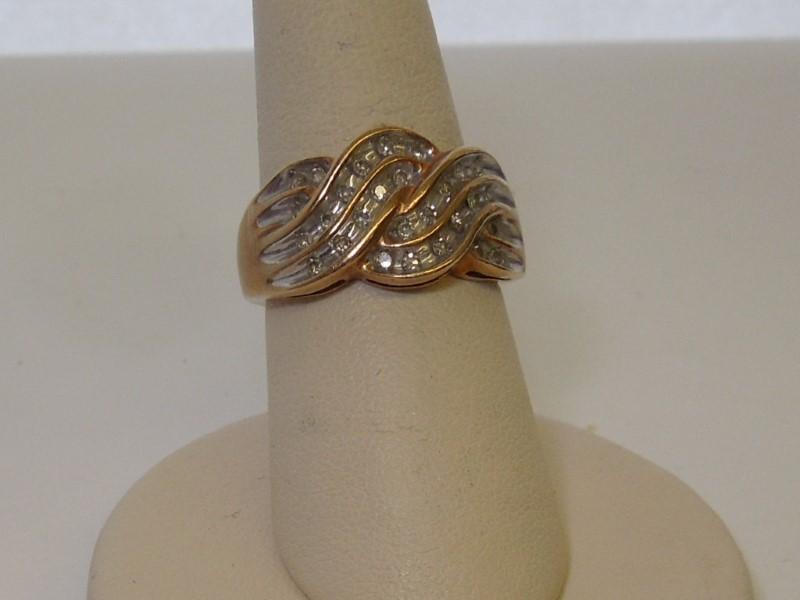 Lady's Diamond Fashion Ring 36 Diamonds .36 Carat T.W. 10K Yellow Gold 4.4g