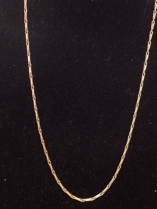 "15"" Gold Link Chain 14K Yellow Gold 3.1g"