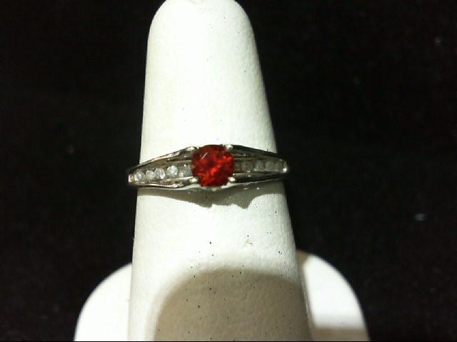 Lady's Diamond Fashion Ring 10 Diamonds .10 Carat T.W. 10K White Gold 1.7g