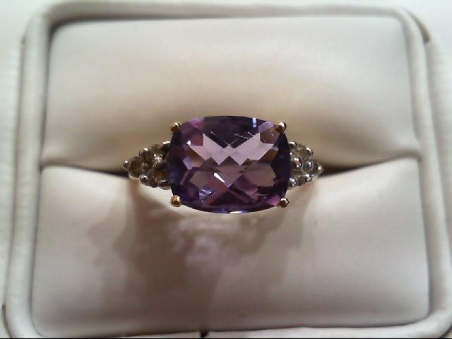 Lady's Diamond Fashion Ring 6 Diamonds .12 Carat T.W. 14K Yellow Gold 2.4g