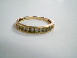 Lady's Diamond Wedding Band 10 Diamonds .30 Carat T.W. 10K Yellow Gold 1.9g