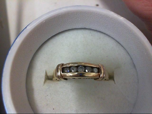 Lady's Diamond Wedding Band 5 Diamonds .25 Carat T.W. 10K Yellow Gold 3.2g