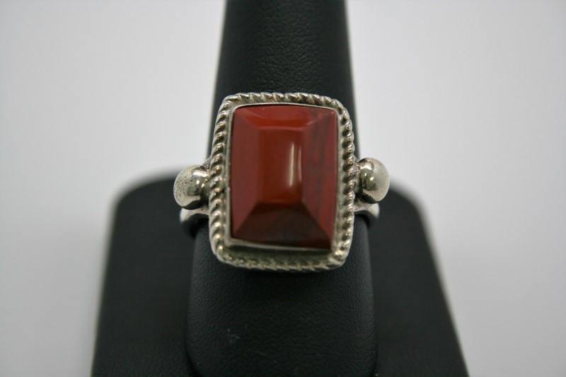 FASHION STYLE AGATE SILVER RING 10