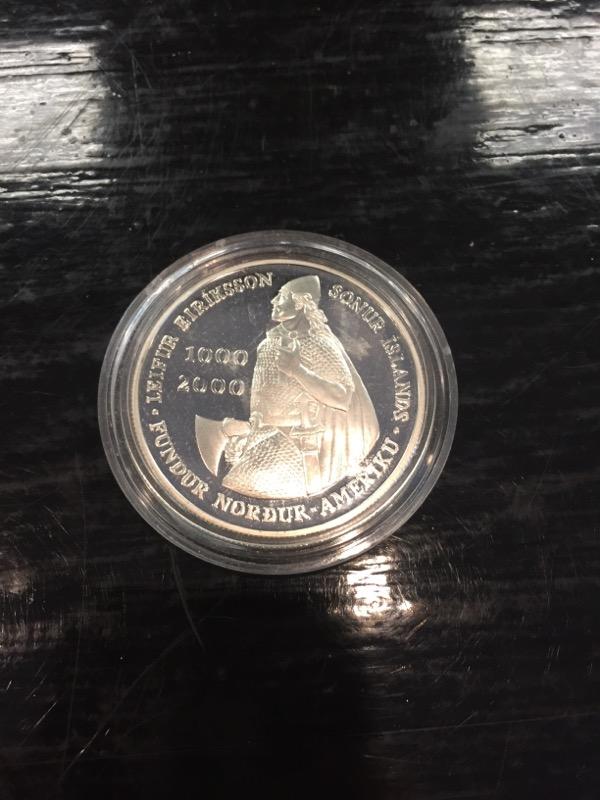 UNITED STATES Silver Coin LEIF ERICSON MILLENNIUM COMMEMORATIVE COIN