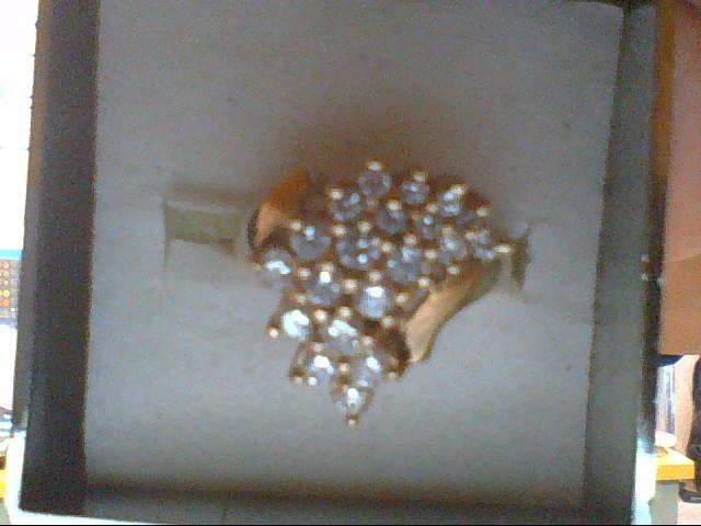 Lady's Diamond Cluster Ring 20 Diamonds .80 Carat T.W. 14K Yellow Gold 5.8g