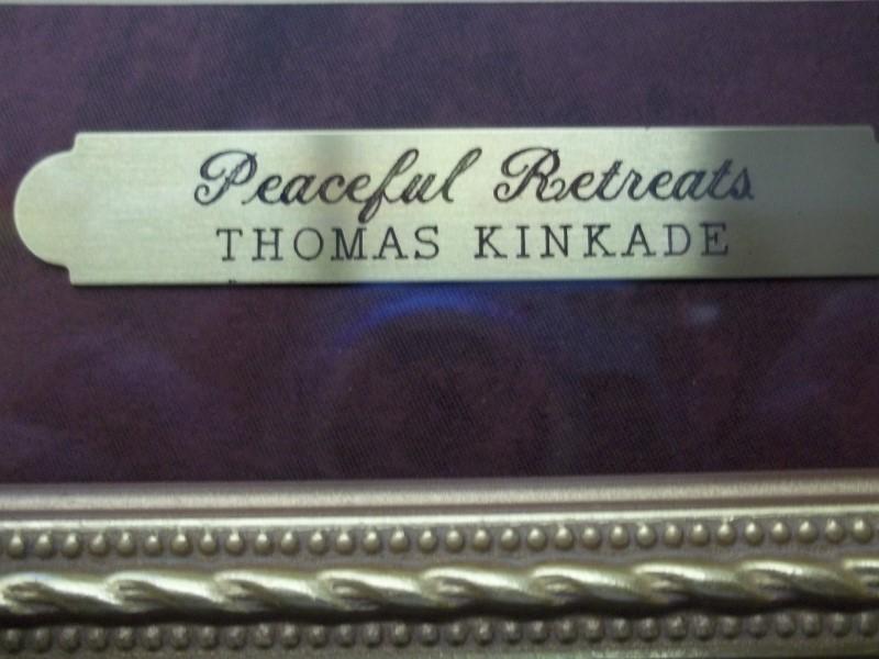 "THOMAS KINKADE ""PEACEFUL RETREAT"