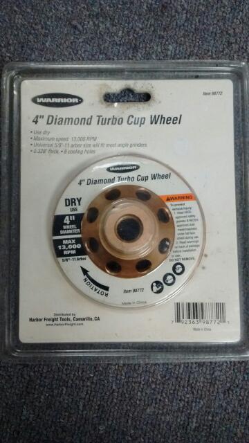 """WARRIOR TOOL 4"""" TURBO DIAMOND 50/60 DIAMOND GRILL"""