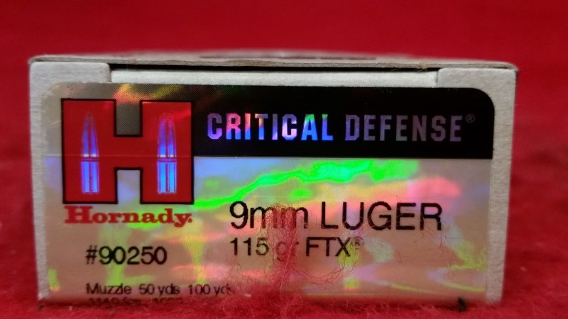Hornday 9mm 115gr FTX Critical Defense - 20 Rounds