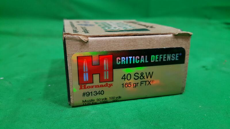 HORNADY CRITICAL DEFENSE .40 S&W 165GR 20RDS