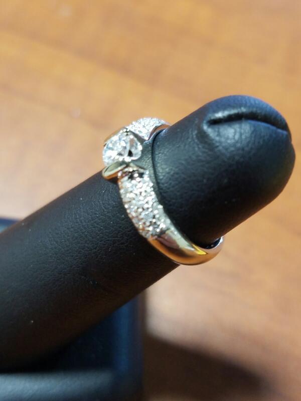 Lady's Diamond Fashion Ring 33 Diamonds .54 Carat T.W. 14K White Gold 2.5dwt