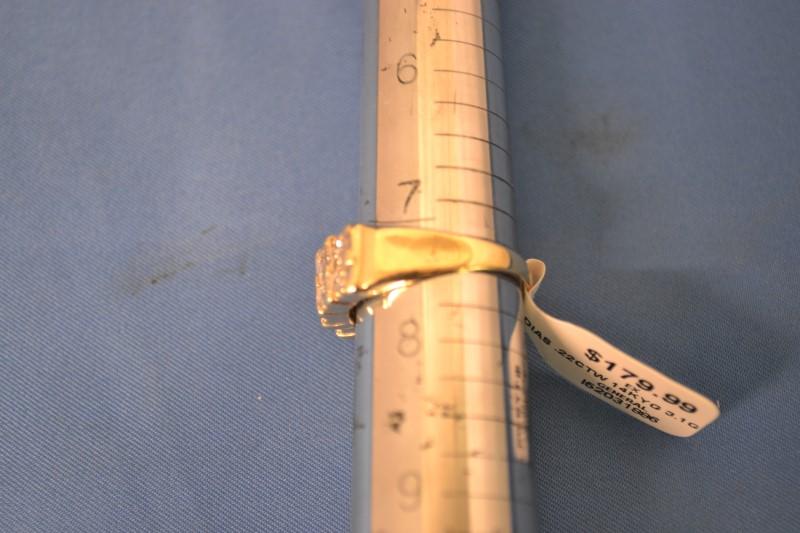 Gent's Diamond Fashion Ring 22 Diamonds .22 Carat T.W. 14K Yellow Gold 3.1g