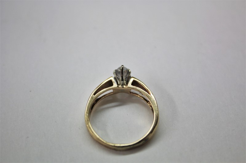 Lady's Diamond Solitaire Ring .40 CT. 14K Yellow Gold 3.1g