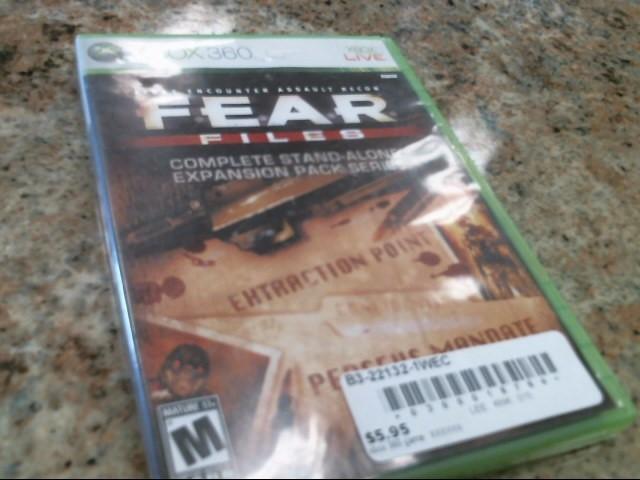MICROSOFT Microsoft XBOX 360 Game FEAR FILES