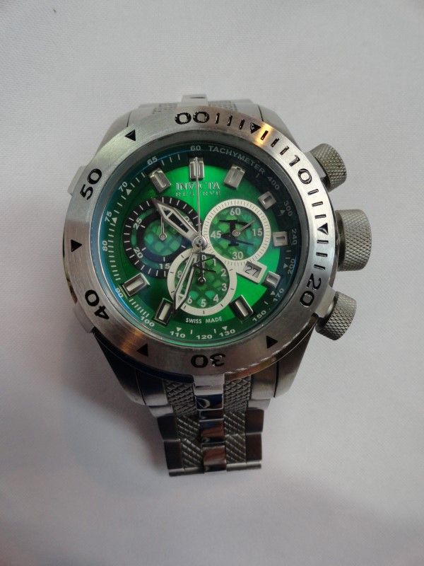 Invicta Bolt 11598 Chronograph, Green Face, Stainless Steel Band