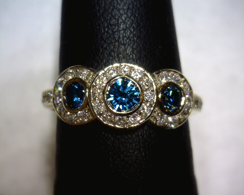 Lady's Diamond Fashion Ring 45 Diamonds .63 Carat T.W. 14K White Gold 2.4dwt